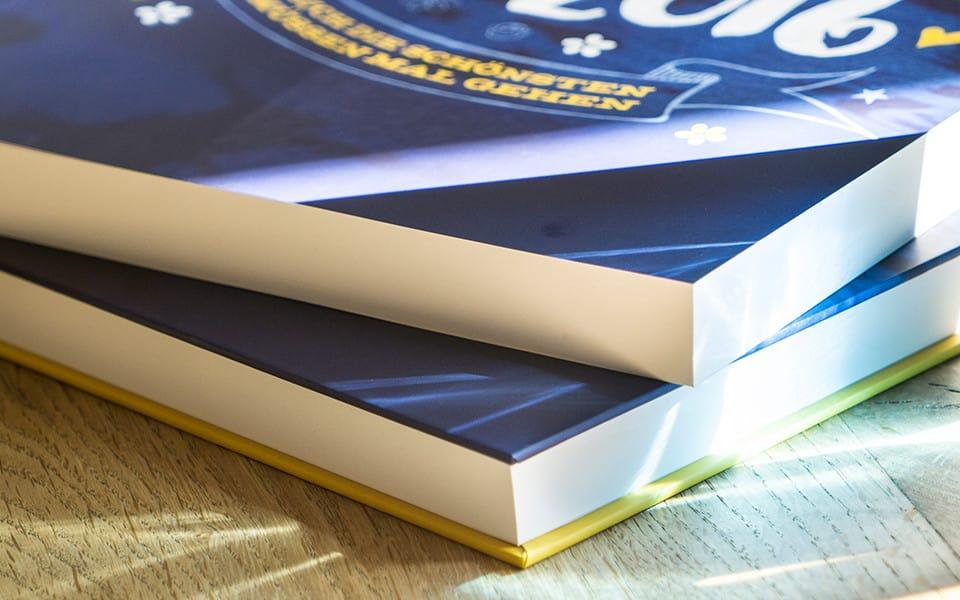 Abizeitung drucken als Softcover Bindung